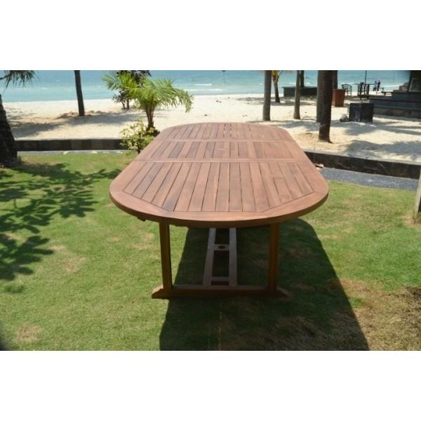 Salon de jardin en teck massif pas cher modèle Bali