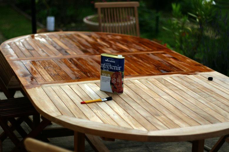 Traiter un salon de jardin en Teck | Méthodes & Conseils ...