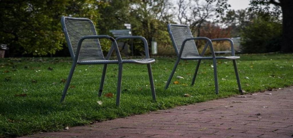 Chaises de salon extérieur en métal
